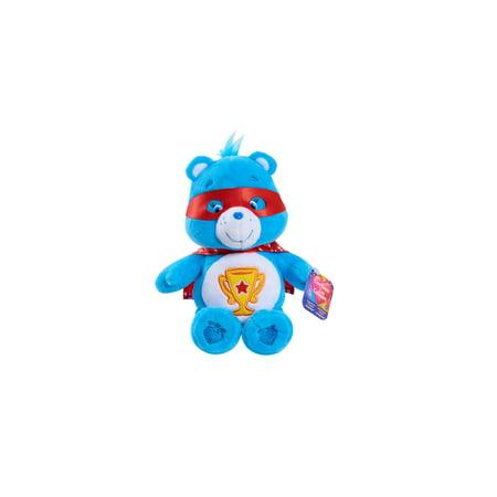 Care Bears Bean Plush- Superhero Champ Bear - Care Bears Cheer Bear
