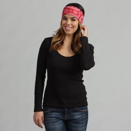 O3 Obersee Adult Rag Tops Red Paisley Convertible Headwear