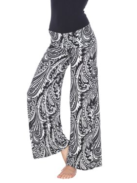 9c3504f74 Product Image Women's Bohemian Paisley Printed Palazzo Pants. Product  Variants Selector. Black/White