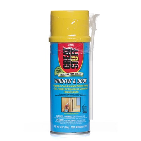 - GREAT STUFF Window & Door Insulating Foam Sealant 12 oz
