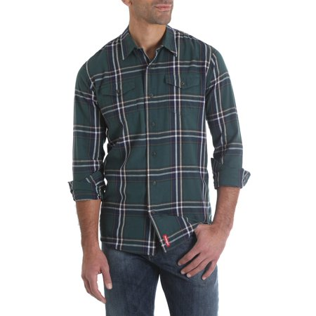 - Men's Long Sleeve Premium Plaid Woven Shirt