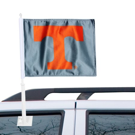 Tennessee Volunteers Car Flag - Gray - No Size - Gray Car Flag
