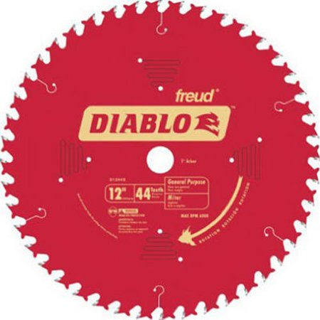 D1244X Diablo 12-Inch 44 Tooth ATB General Purpose Miter Saw Blade with 1-Inch Arbor, The product is 12x44T Diablo Blade By