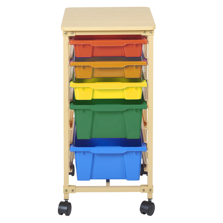 5-Tray Mobile Organizer Sand - Assorted Bins