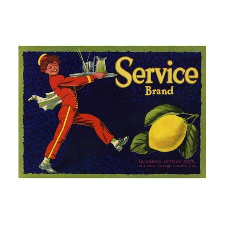 Service Brand - La Habra, California - Citrus Crate Label Print Wall Art By Lantern - City Of La Habra Jobs