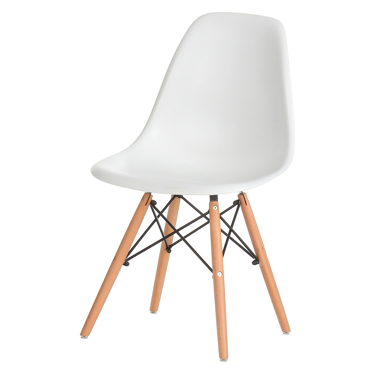 Eames Eiffel Dining Side Chair Replica White with Oak Legs  sc 1 st  Walmart : eames side chair replica - Cheerinfomania.Com