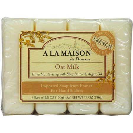 - 2 Pack - A La Masion Bar Soap Oat Milk, 3.5 oz bars, 4 ea