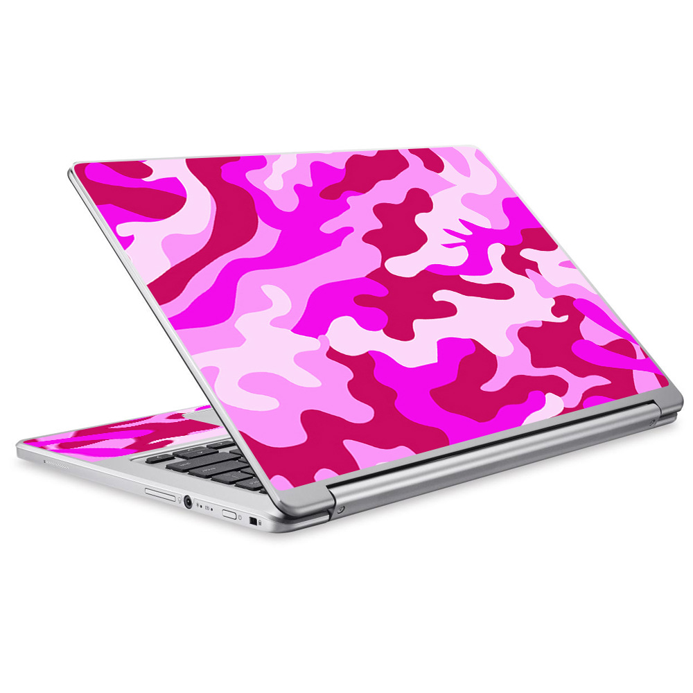 Skins Decals For Acer Chromebook R13 Laptop Vinyl Wrap / Pink Camo, Camouflage