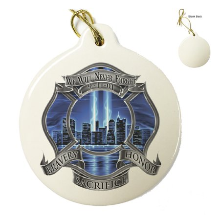 Firefighter 911 Blue Skies We Will Never Forget--Christmas Tree Ornaments