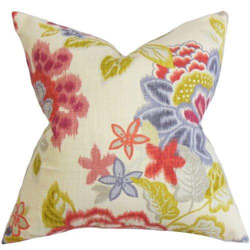 The Pillow Collection Vasant Floral Cotton Throw Pillow