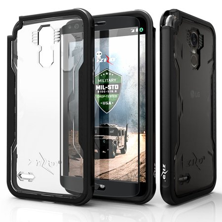 watch 31eee 32e02 LG Stylo 3 Case, Zizo [Shock Series] w/FREE [LG Stylo 3 Screen Protector]  Crystal Clear [Military Grade DropTested] Aluminum Metal Bumper Stylo 3 Plus