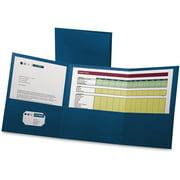 Oxford Tri-Fold Pocket Folders, Blue, 20 / Box (Quantity)