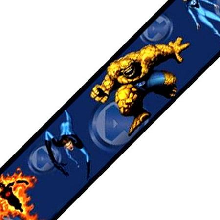 York Wallcoverings 12440772 Fantastic Four Marvel Comics Wallpaper Accent Border Roll