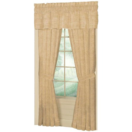 "Patch Magic Brown Light/Golden Chambray Window Curtain 40X80 Pl;10"" Lp"
