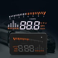 """X5 OBDII HUD Head Up Display Windscreen Projector Speed Warning System Alarm 3"""", and can apply for cars in line with OBD II or EUOBD (onboard automatic diagnostic system). Plug and play"""