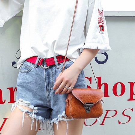 Fashion Soft PU Leather Women Crossbody Bag Adjustable Strap Shoulder Bag - image 2 of 10