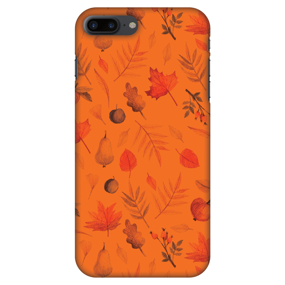 iPhone 8 Plus Case - Colours of Autumn, Hard Plastic Back Cover. Slim Profile Cute Printed Designer Snap on Case with Screen Cleaning Kit