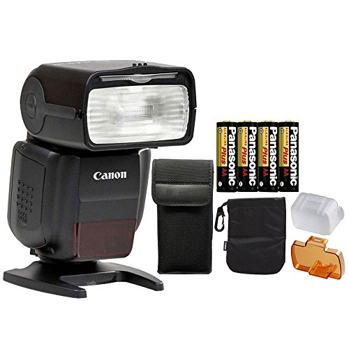 Canon Speedlite 430EX III-RT Flash with Batteries For Most Canon DSLR Cameras