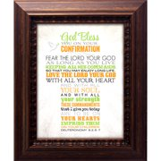 The James Lawrence Company Confirmation-God Bless You On Your Framed Textual Art