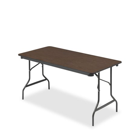 Rectangular Walnut Folding Table - Iceberg Economy Wood Laminate Folding Table, 30