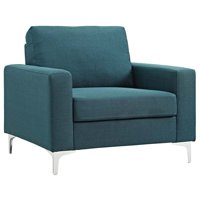 Modway Allure Accent Chair In Blue
