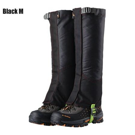 1 Pair Outdoor Camping Hiking Climbing Waterproof Snow Legging Gaiters For Men Women Teekking Skiing Desert Snow Boots Shoes Covers M BLACK thumbnail