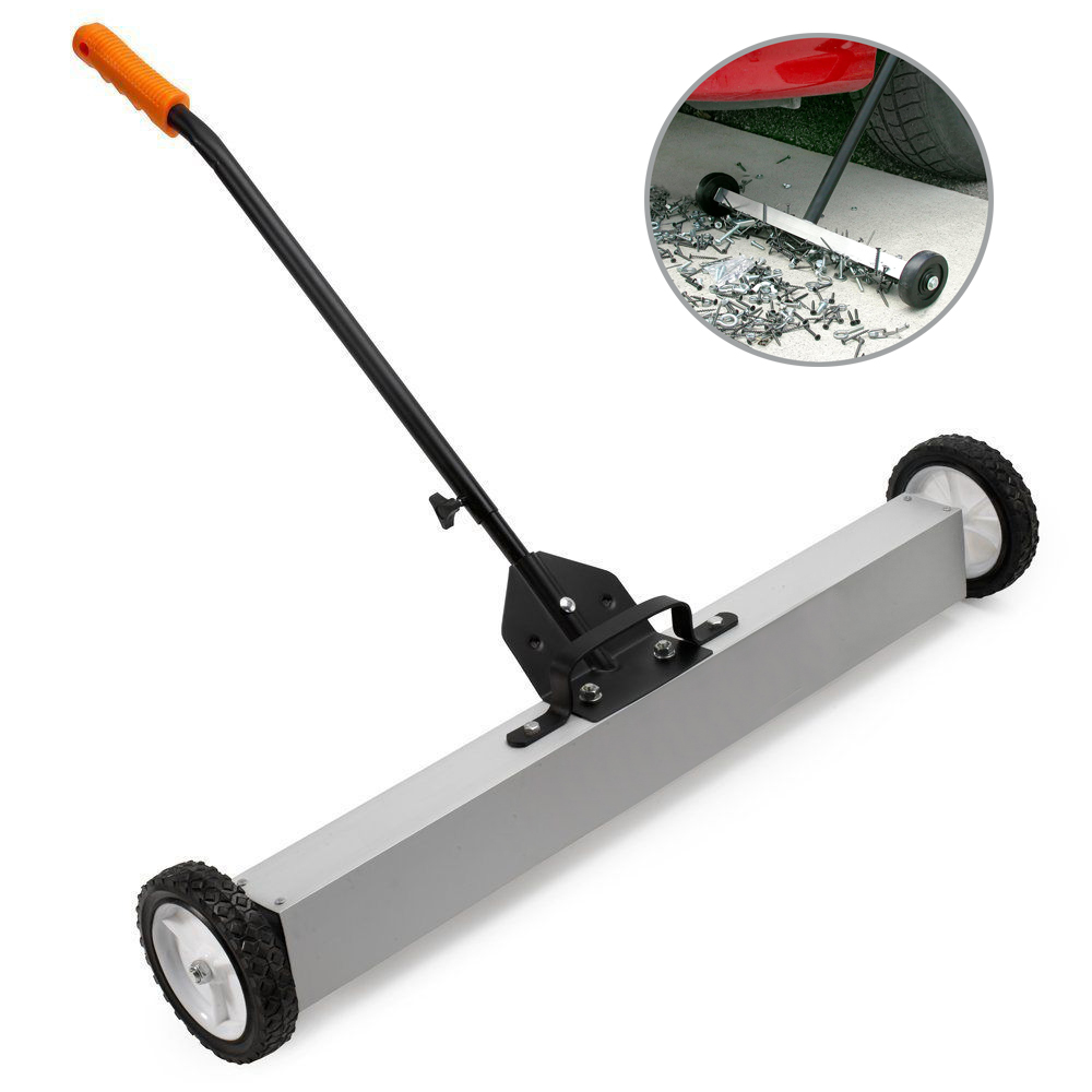 """Zimtown 24"""" Heavy Duty Handle-Type Magnetic Sweeper, Pick Up Roller Push Broom Tool, Magnetic Pick-Up... by Zimtown"""