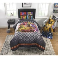 Five Nights at Freddy's Kids Bed in a Bag Bedding Set, Pizza Security, 4Pc Twin