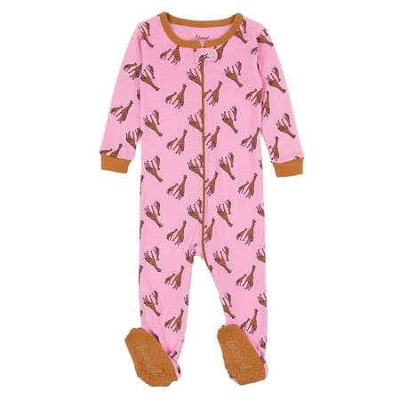Leveret Kids Pajamas Baby Boys Girls Footed Pajamas Sleeper 100% Cotton (Giraffe, Size 5 Toddler)