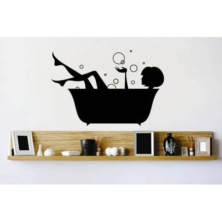 Idea Bubble (New Wall Ideas Bathtub Girl Woman Bubbles Water Clean Bathroom Bathroom)