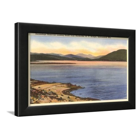 Sacandaga Reservoir, Northville, New York Framed Print Wall Art ()