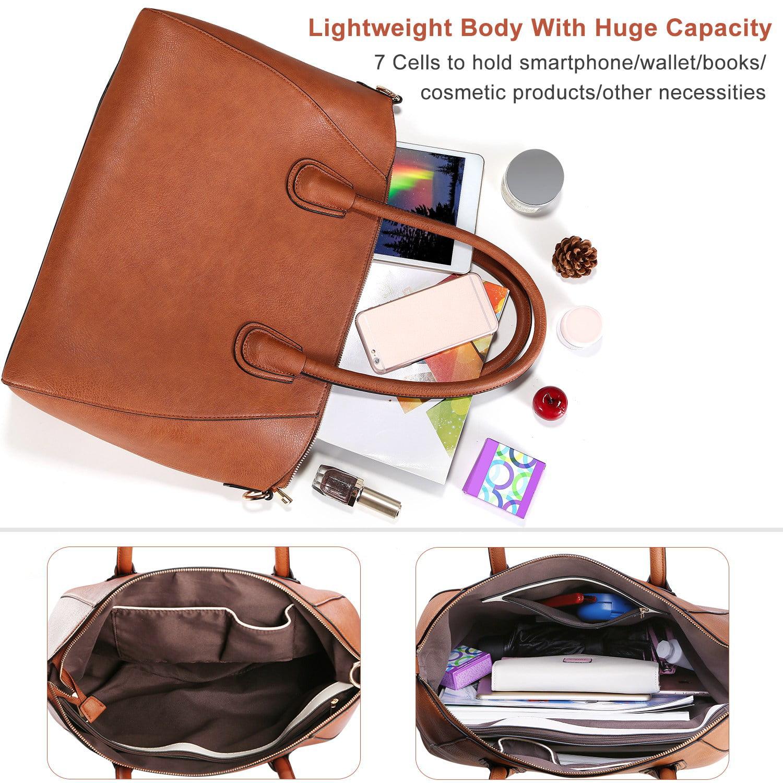 Details about  /Women Leather Handbag Shoulder Ladies Purse Huge Capacity Crossbody Tote Bag