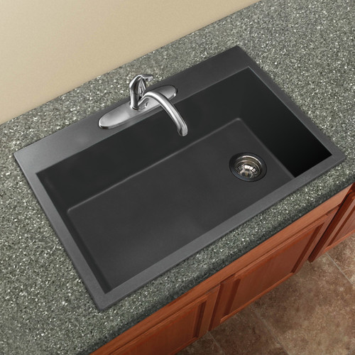how to put in a kitchen sink transolid radius 33 x 22 granite single bowl drop in 9534