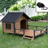 Boomer & George Lodge Dog House with Porch and Heater