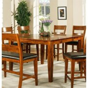 Steve Silver Company Mango Solid Wood Counter Height Dining Table in Light Oak