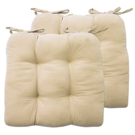 mini corduroy cotton 15 x15 chair pad cushion with tiebacks 2 pack