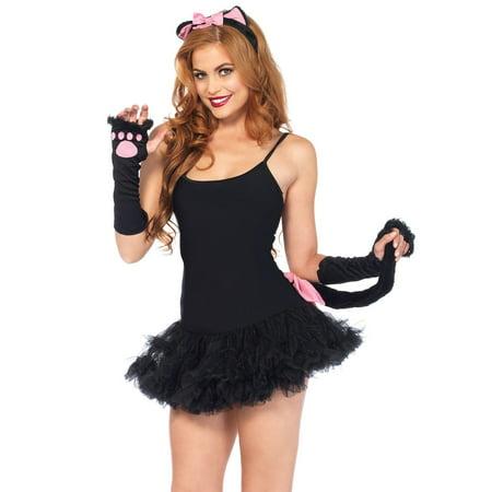 Leg Avenue 3 Piece Pretty Kitty Costume Accessory Kit, Black, One Size](Pretty Kitty)