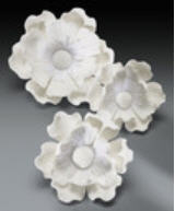Cake Decoration Gum Paste Poppy Assortment- White