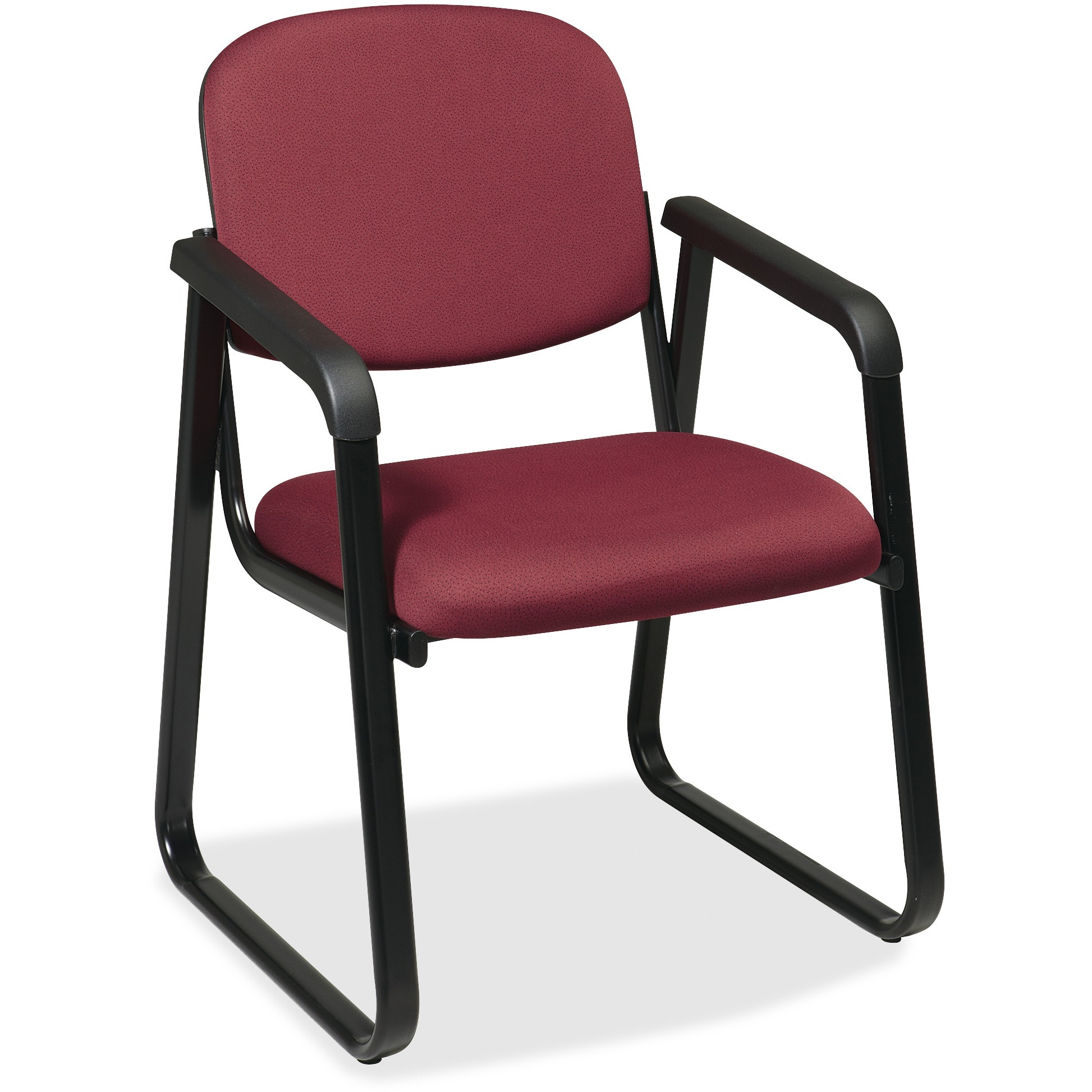 Office Star, OSPV441074, V4410 Deluxe Sled Base Arm Chair, 1 Each, Burgundy
