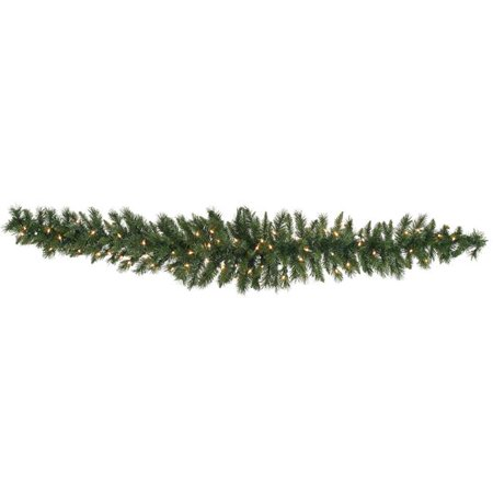 Vickerman A877208LED 6 ft. Imperial Pine Swag Garland with 180 Tips & 50 Warm White Mini LED Light - image 1 de 1