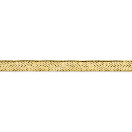 14K Yellow Gold 6.5mm Silky Herringbone Chain - image 2 of 5