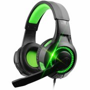 Wired Gaming Headset,3.5mm Stereo Headphone,Noise Isolation,with LED Light,for Xbox one,PS4, mobile phone,PC,computer,laptop