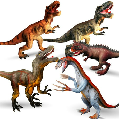 T-Rex/Carnotaurus/Therizinosaurus/Raptor Dinosaur Plastic Toy Model Educational Toy - T Rex Model