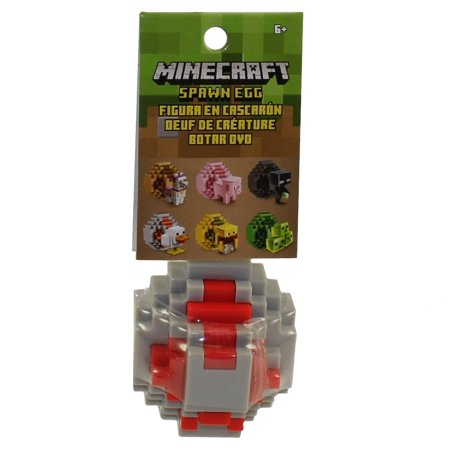 Mattel - Minecraft Spawn Egg with Mini Figure Inside - DUCK (Gray & Red Egg)(2 inch)