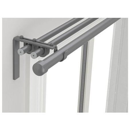 Ikea Triple curtain rod combination, silver color 82 5/8-151 5/8