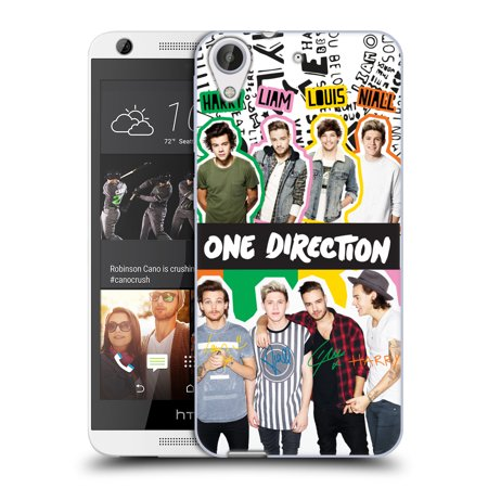 Official One Direction Locker Art Group Soft Gel Case For Htc Phones 1