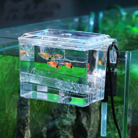 Double Breeder - Aquarium Tank External Hang-on Breeder Fish Breeding for Hatchery
