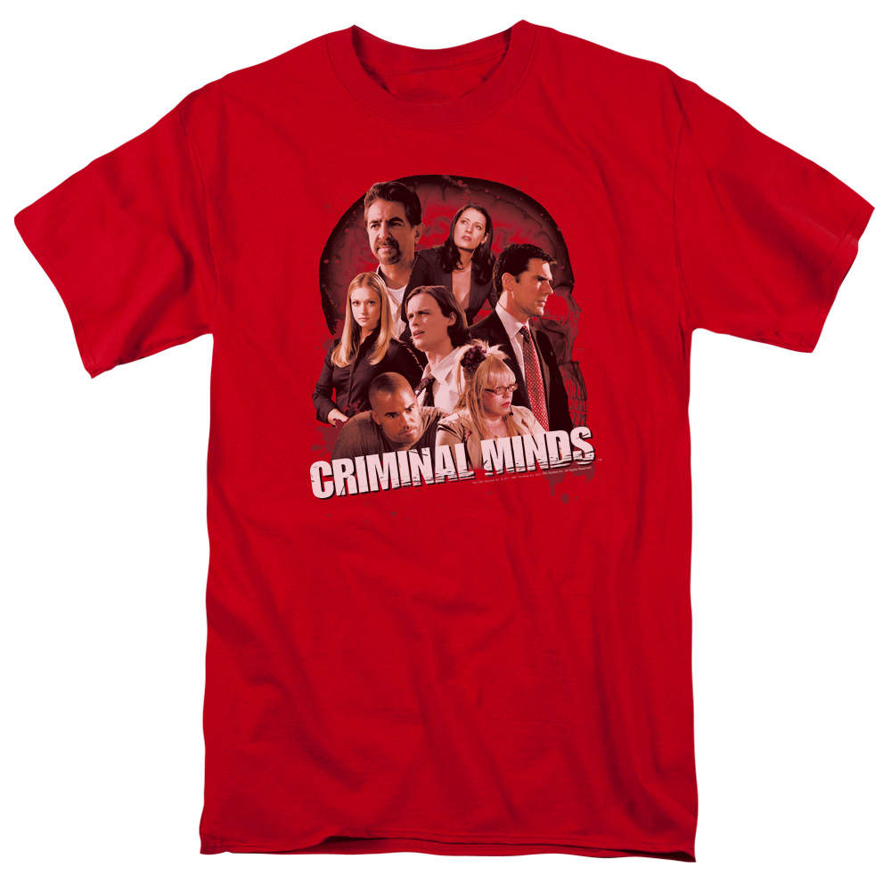 Criminal Minds/Brain Trust S/S Adult 18/1   Red     Cbs977