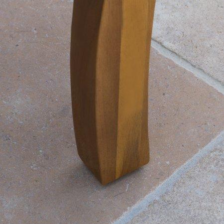Amarante Outdoor Acacia Accent Table, Teak Finish