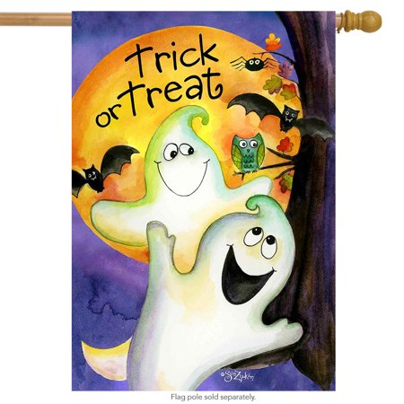 trick or treat ghouls halloween house flag ghosts 28